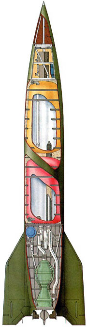 A4 (V-2) rocket section