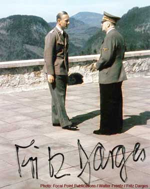 Hitler with Fritz Darges