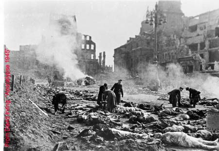 Corpses publicly cremated in Dresden