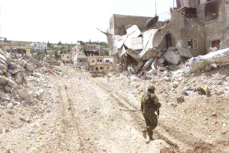 The ruins of Jenin