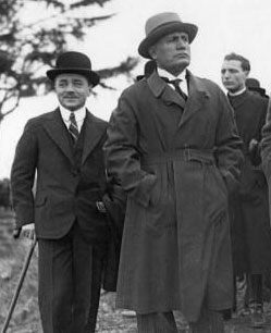 Benito Mussolini and friend, Engelbert Dollfuss