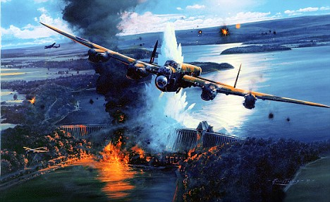 Lancasters of No.617 Squadron attack the Ruhr Dams